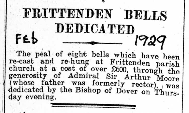 Clipping re bells dedication