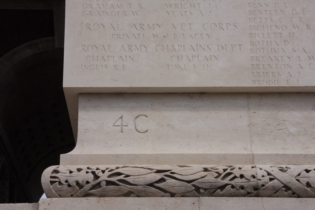 Thiepval inscription