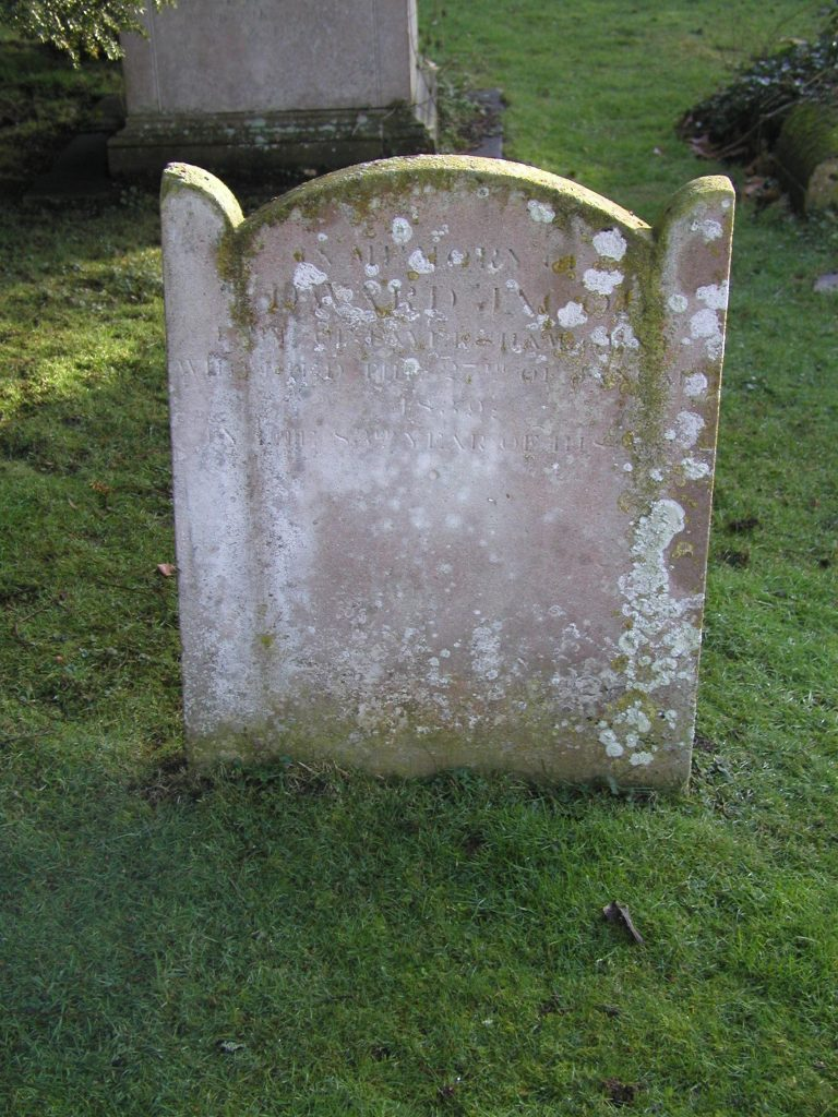 Edward Moore's headstone