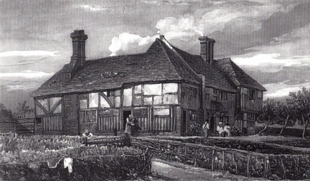 The Workhouse at Frittenden c1835 by John Preston Neale